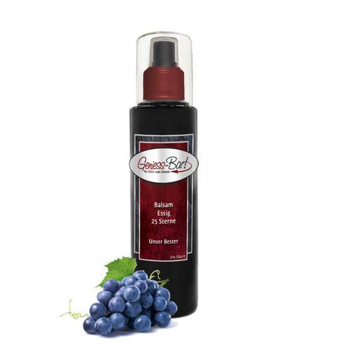 Balsam Essig 25 Sterne 0,26L fast sirupartig konzentriert und sehr mild 6% Säure Pumpspray