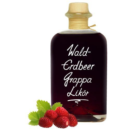 Walderdbeer Grappa Likör - bonbonartig mit satter Duft- & Fruchtnote 20% Vol.