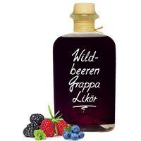 Wildbeeren Grappa Likör - beeindruckend aromatisch & opulent 20% Vol.