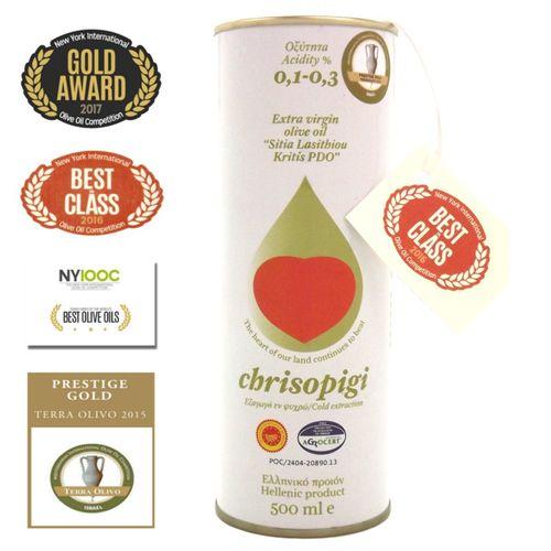 Das vlt. beste Olivenöl der Welt! Chrisopigi PDO 0,5L aus Kreta Best in Class 2017!