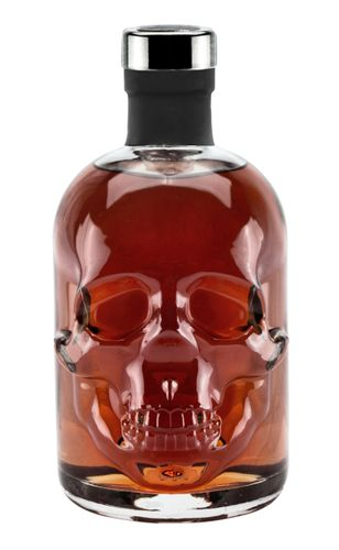 Rum 15 Jahre 0,5L Piraten Skull Totenkopf Flasche Caribbean Ron Solera Reserva 40%Vol