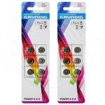 12 x Grundig 1,5V 155mAh AG13/357/LR44 Knopfzelle # 85578 Batterien