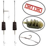 Karpfen Montagen KIT mit Method River Futterkorb # 105 - 106 Orange Carp