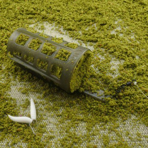 Fluorocarbon Komplett Fertig Montage Set Futterkorb CAGE FEEDER DISTANCE Brachse