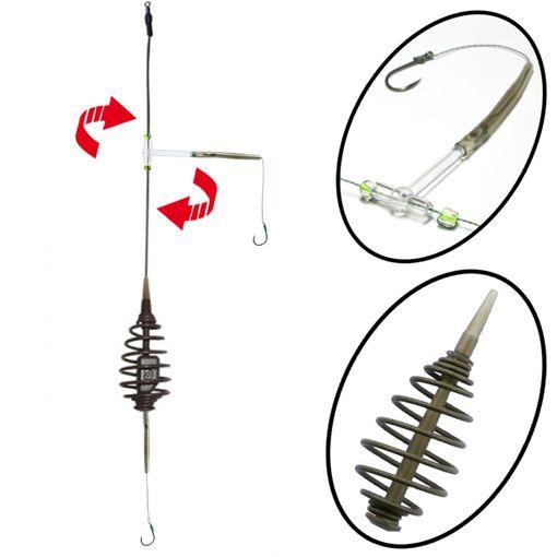 Komplett Fertig Montage Kit Spiral Futterkorb Feeder Method Spring # MF16 Hakengröße 10