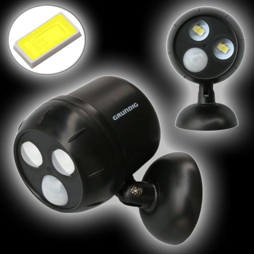 led spot mit infrarot bewegungs sensor f r au eneinsatz. Black Bedroom Furniture Sets. Home Design Ideas