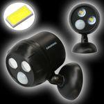LED Spot mit Infrarot Bewegungs-Sensor für Außeneinsatz # 07444 Batteriebetrieb Bewegungsmelder