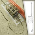 FEEDER CAGE InLine Grundmontage # CR8 Karpfen Futterkorb Montage Carp Hair Rig