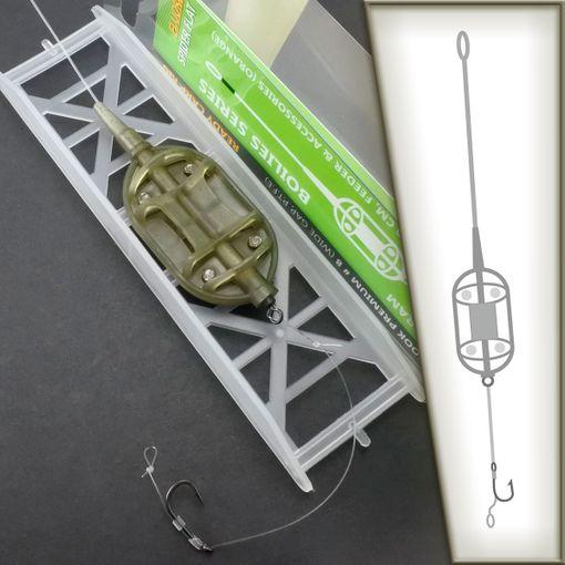 Fluorocarbon SPIDER FLAT Method Feeder Karpfenmontage # CR42 Carp Montage