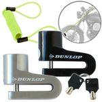 DUNLOP Bremsscheibenschloss 2 Schlüssel & Erinnerungskabel # 07560 Disc Brake Lock