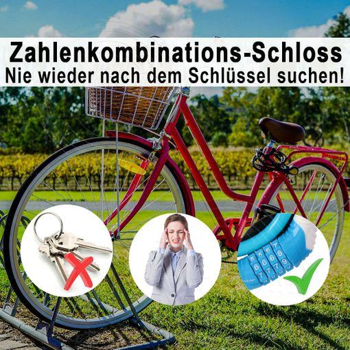 Fahrradschloss DUNLOP Zahlenschloss Sicherheitsschloss 10mm 65cm Motorradschloss