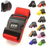 2 x Koffergurt mit Zahlenkombination - 12 Farben Lifetime # 96546 12693