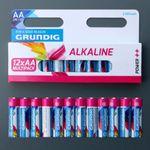 12 x Grundig AA 1,5V Batterien LR6 2100mAh # 51677 Alkaline Power++