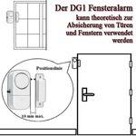 Pentatech DG1 / 4er Tür- und Fensteralarm # 33608 4 x Fenster Alarm Alarmanlage Set