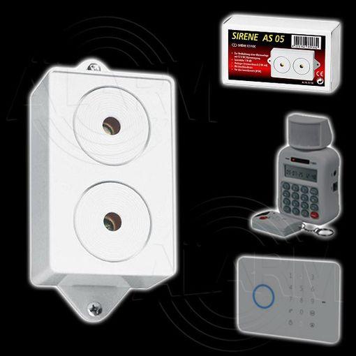 Pentatech AS05 Alarm Sirene # 33133 Innensirenen für MA80, 3000Z, GA90, CO90