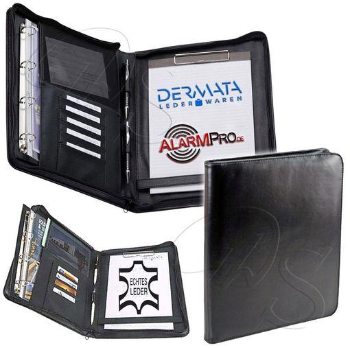Details About Genuine Leather Ring Binder Folder Dermata Ring Mechanics Removable Writing Folder Binder Show Original Title