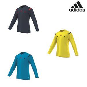 adidas Referee 14 Jersey LS Schiedsrichtertrikot Langarm blau / gelb – Bild 1