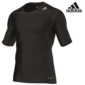 adidas TechFit BASE SS Tee T-Shirt Unterziehshirt schwarz / weiß – Bild 2