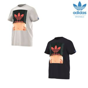 adidas Originals Summer Girl T-Shirt Herren weiß / blau – Bild 1