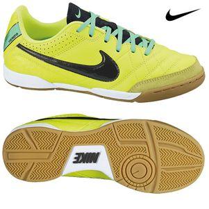 Nike Tiempo Natural IV LTR IC Junior gelb / schwarz / weiß / grün