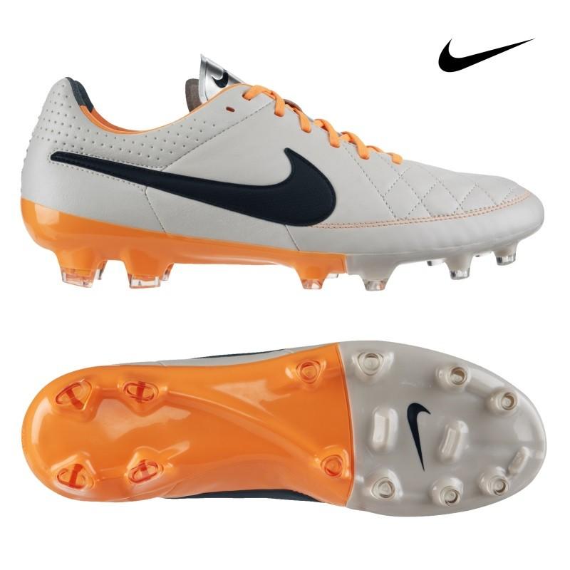 Nike Tiempo Legacy Fg Fussballschuhe Grau Schwarz Orange