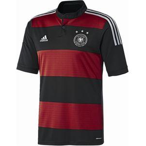 adidas DFB Deutschlandtrikot Auswärts Away WM 2014 Kids schwarz / rot – Bild 2
