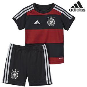 adidas DFB Auswärts Trikot Babykit 2014 schwarz / rot / silber