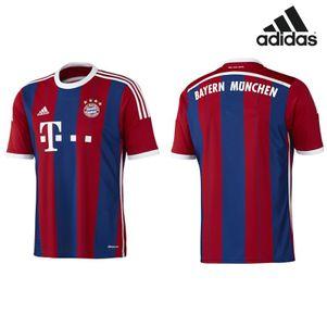 adidas FC Bayern München Home Heimtrikot 2014/2015 rot/blau – Bild 1
