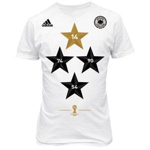adidas DFB Deutschland T-Shirt Herren Weltmeister WM 2014 4 Sterne – Bild 1