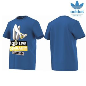 adidas Originals Shoegirlphoto T-Shirt Herren blau
