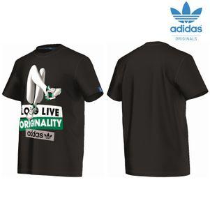 adidas Originals Shoegirlphoto T-Shirt Herren schwarz