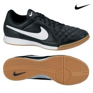 Nike Tiempo Genio IC Leder Hallenschuh Fußballschuh schwarz/weiß