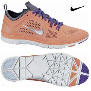 Nike Free 5.0 Trainer Fitness 4 Damen Sportschuhe apricot/lila/grau