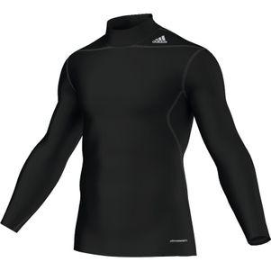adidas TechFit BASE Warm Mock Tee Langarm-Shirt Unterziehshirt schwarz