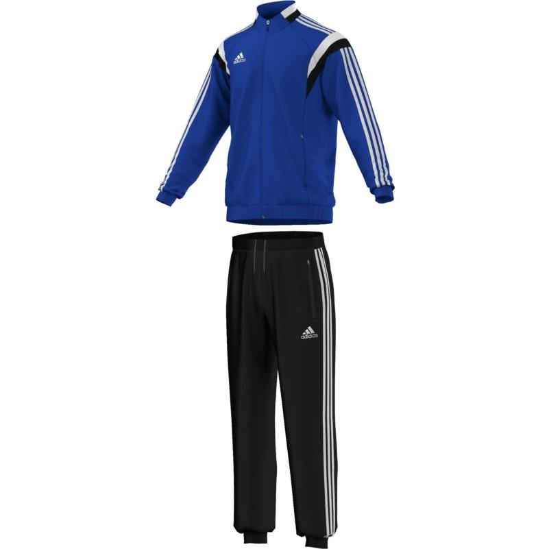 adidas Condivo14 Polyesteranzug Kinder Trainingsanzug blau/weiß/schwarz