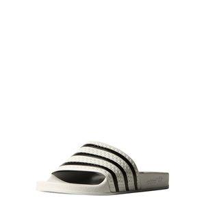 adidas Originals adilette Slipper Badelatschen Herren weiß / schwarz – Bild 3