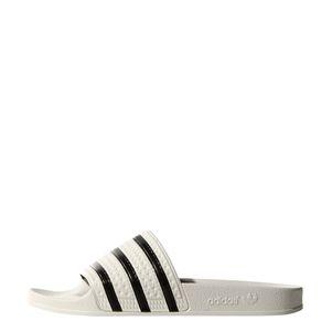adidas Originals adilette Slipper Badelatschen Herren weiß / schwarz – Bild 2