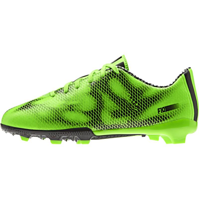 adidas F10 FG J Kinder Fußballschuhe grün//schwarz//schwarz B39898