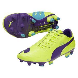 Puma evoPOWER 1 FG Fußballschuhe gelb/violett/blau