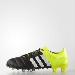 adidas ACE 15.2 FG/AG Leather Leder schwarz/weiß/gelb – Bild 1