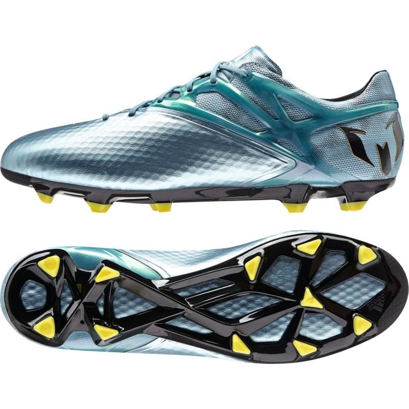 the latest 4d108 d1191 adidas Messi 15.1 FG AG Synthetik blau metallic gelb schwarz