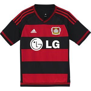 adidas Bayer Leverkusen Trikot Home 2015/2016 Kinder schwarz/rot