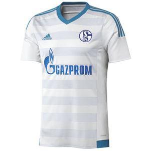 adidas Schalke 04 Away Auswärtstrikot 2015/2016 weiß/blau – Bild 1