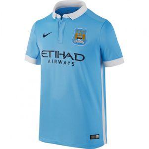 Nike Manchester City FC Home Kids Heimtrikot Kinder 2015/2016 blau/weiß – Bild 1