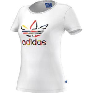 adidas Originals Trefoil Tee T-Shirt Damen weiß – Bild 1