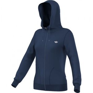 adidas Originals Paris Slim FZ Hoody Kapuzenjacke Damen blau – Bild 1