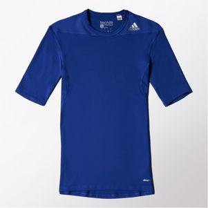 adidas TechFit Base SS Tee T-Shirt kurzarm Unterziehshirt royal blau – Bild 1