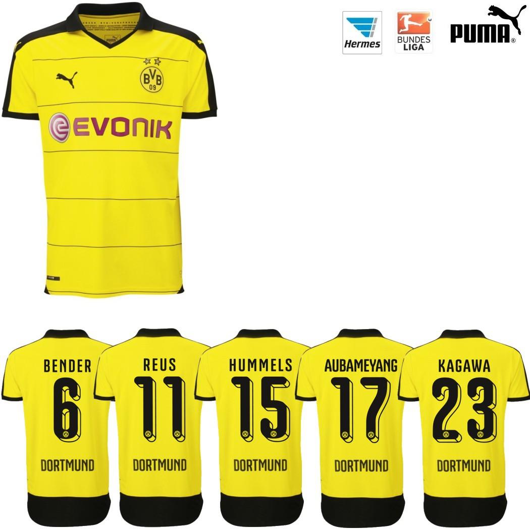 Puma BVB Borussia Dortmund Heimtrikot 20152016 gelb mit Beflockung