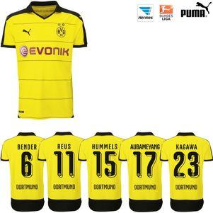 Puma BVB Borussia Dortmund Heimtrikot 2015/2016 gelb mit Beflockung – Bild 1
