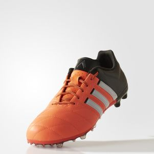 adidas ACE 15.2 FG/AG Leather Leder orange/weiß/schwarz – Bild 2